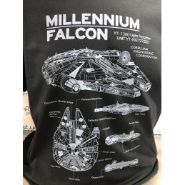 T-SHIRT FALCON STAR WARS